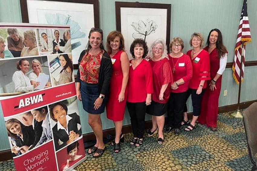 ABWA Chapter installs new officers