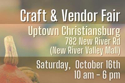 10/16: Craft & Vendor Fair 16