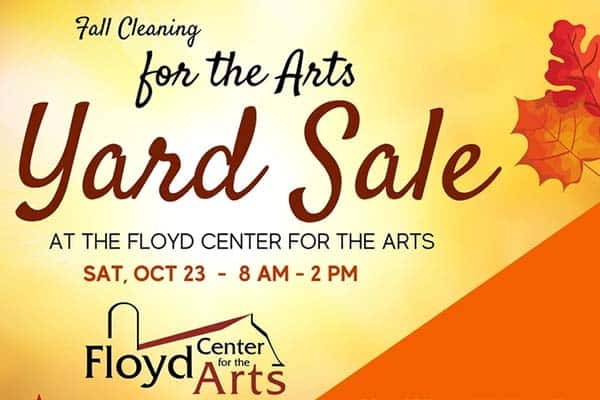 10/23: Fall Cleaning for the Arts Sale