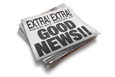 A Little Good News!